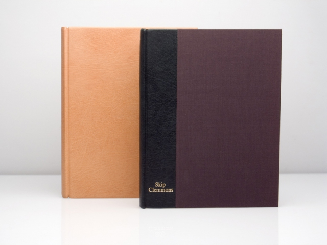 Full leather and quarter bound journals