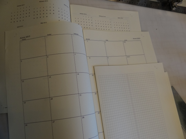 This shows the 3 different page formats in one style of daily planner