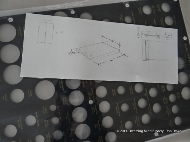 The preliminary sketches for a box designed to protect a Jaco Products coin holder from scratching