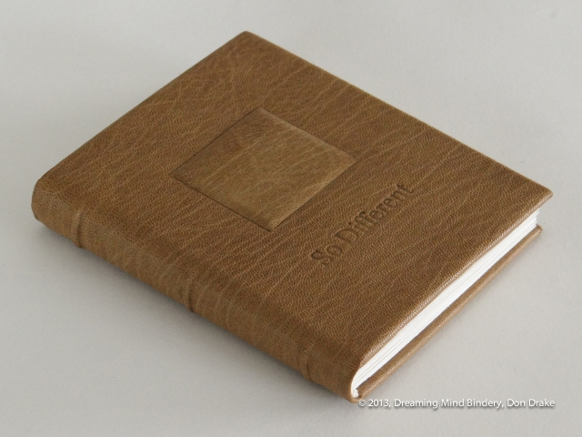 Don Drake's original work *So Different* bound in beige goat skin.