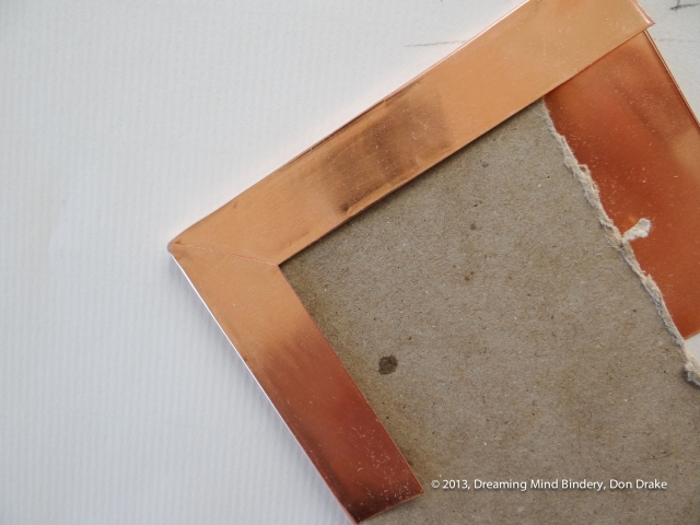 Testing sheet copper to see how it will perform in a copper journal cover