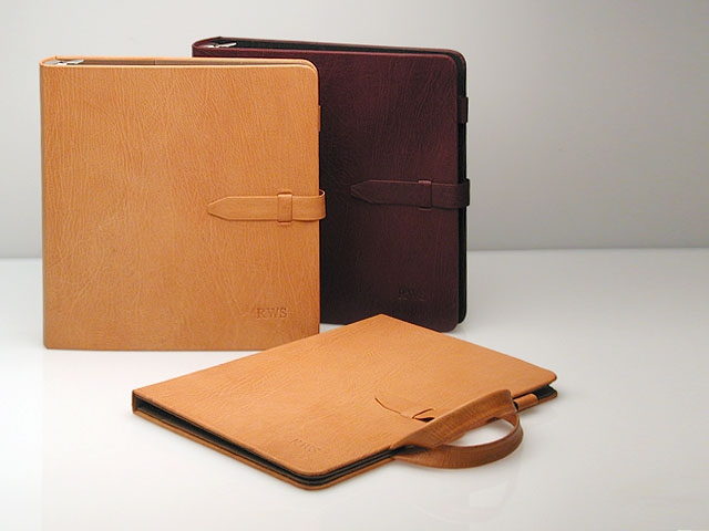 Leather business portfolio and notebooks