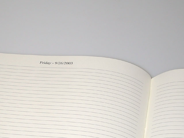 Custom diary pages