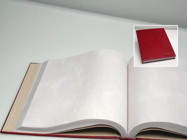 Customer provided paper for a hand bound journal