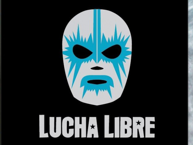 A two color proposal for the Lucha Libre hot stamp design