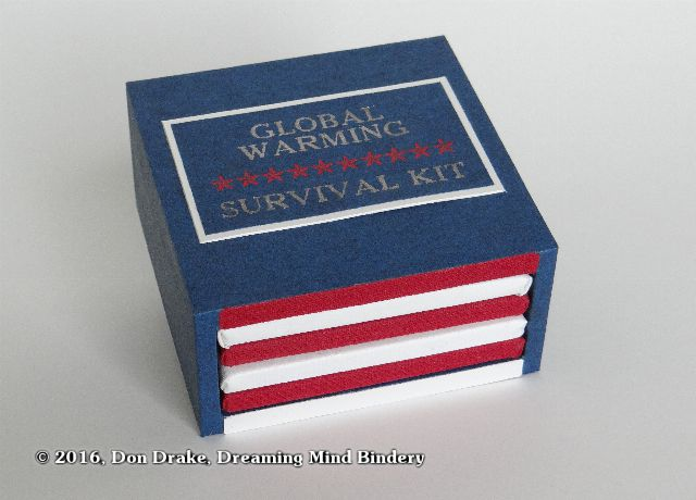 "Don Drake's miniature book ""Global Warming Survival Kit""; hero shot"