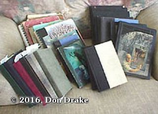 Some of Don Drake's journals dating back to his Freshman year in High School